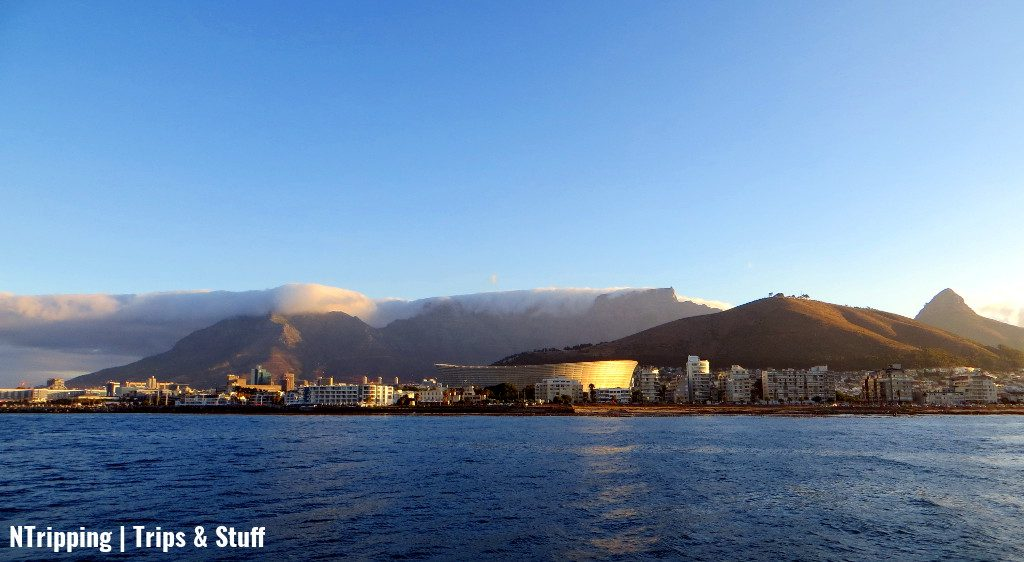 Table Mountain Cape Town Downtown At Sunset